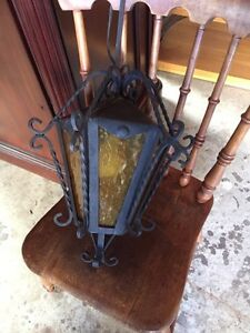 Vintage wrought iron hanging light with plug Kitchener / Waterloo Kitchener Area image 2