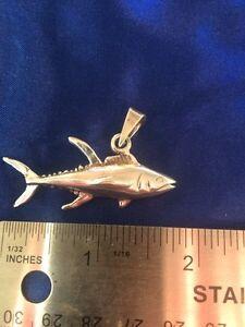 Yellowfin Tuna Fish Sterling Silver Solid Pendant Fishing Kitchener / Waterloo Kitchener Area image 2