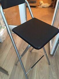 2 IKEA Folding Bar / Kitchen Stools