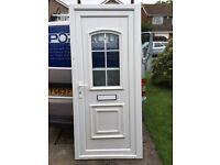 PVCu plastic door - reclamied