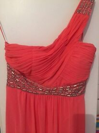 New look coral size 14 formal maxi dress