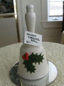 HAND-CRAFTED CERAMIC CHRISTMAS DINNER BELL by PATRICIA