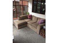 Next grey/silver corner sofa like new