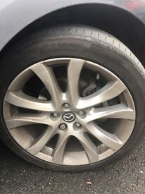 "Mazda 6. <2015> 19"" wheel with tyre."