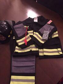 Kids fancy dress fireman costume age 3-4