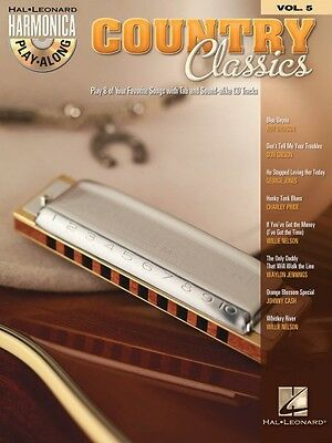 Country Classics - Harmonica Play-Along Book and CD NEW 000001004 on Rummage