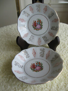 PAIR of MATCHING PORCELAIN SAUCE DISHES