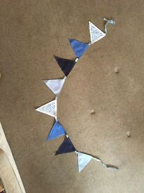 Blue and white bunting