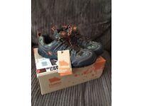 Hyena shoes steel toed NEW size 8