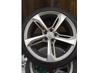 Set of 4 Audi rs5 rs7 style rotor alloys and tyres 18""