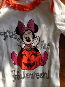 Adorable Minnie Mouse 1st Halloween onesie