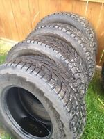 Hankook LT265 70 17 E rated 10 ply winter tires.