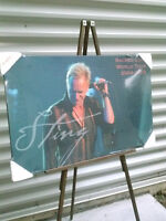STING large wood picture still in the package 2006