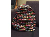 Funky hearts design rucksack