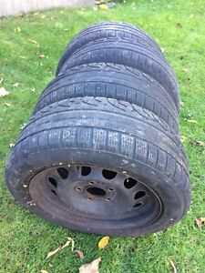 BMW Winter tires and rims 205 55 R16 West Island Greater Montréal image 2
