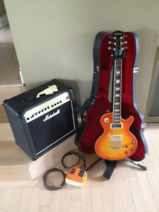 Combo Epiphone/Gibson Les Paul - Ampli Marshall West Island Greater Montréal image 4