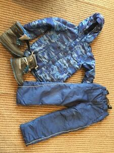 Size M (10-12) Boys Snowsuit and size 2 Cougar Boots Windsor Region Ontario image 1
