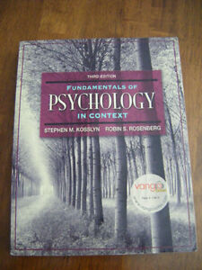 Fundamentals of Psychology in Context (3rd ed)