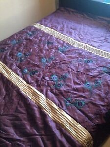 New purple comforter  set king size