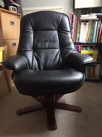 Leather Swivel Office/Reading Chair