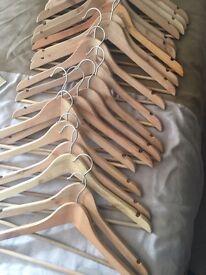 20 Wooden Hangers