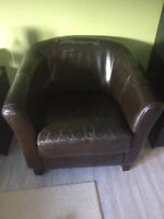 Faux Leather Chair - SO COMFY