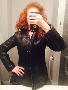 Danier women's winter leather jacket XXS Edmonton Edmonton Area image 1