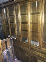 Real Wood and glass Buffet for sale