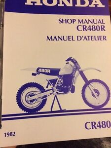 1982 Honda CR480R Shop Manual Regina Regina Area image 1