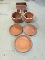 Silma Natural Clay pots. (Made in Italy)