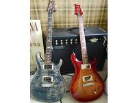 PRS custom 22 faded whale blue with bare knuckle pickups