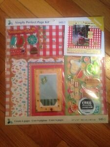 Scrapbooking papers and sticker sets