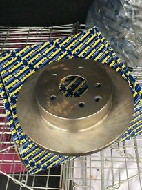 Pair of vented rear disc for Qashqai