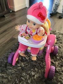 Interactive Vtech little love 3 in 1 pushchair and doll
