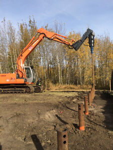 SCREW PILES INSTALL AND SUPPLY OR INSTALL ONLY Strathcona County Edmonton Area image 1
