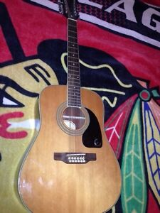 12 string epiphone acoustic $120 Prince George British Columbia image 1