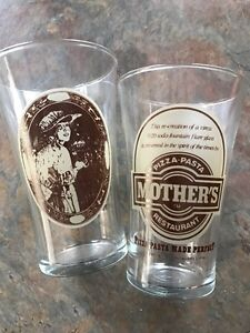 Mother's Pizza Collectible Glasses (qty 7)