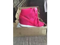 Ladies limited addition wedge heel Nike trainers