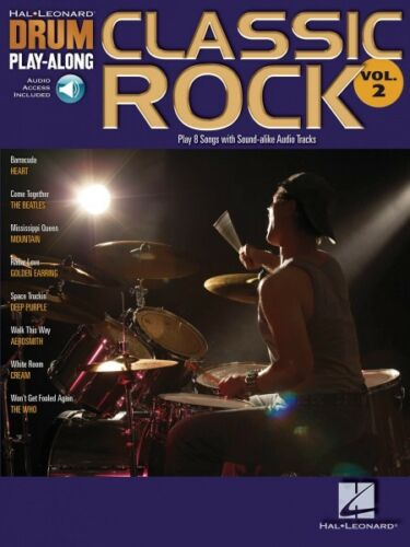 Classic Rock Drum Play-Along Book and Audio NEW 000699741