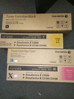 4 Pack Genuine Fuji Xerox DocuCentre II C3000 C3100 C4100 Toner Eumemmerring Casey Area Preview