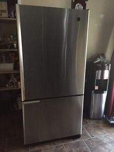 May tag stainless steel fridge