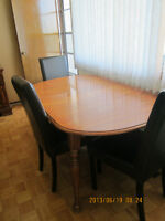Colonial Maple Table & Buffet
