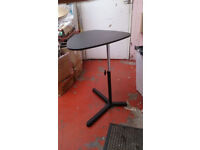Black Adjustable Height Triangle Table