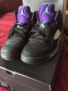 Jordan retro 5 black grapes size 11.5