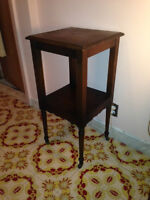 #2 Antique Corner Table with Wheels