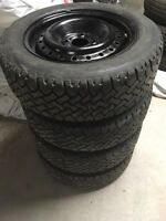 195 60 15 Studded Winter Tires With Rims 4x108 fits Ford Focus