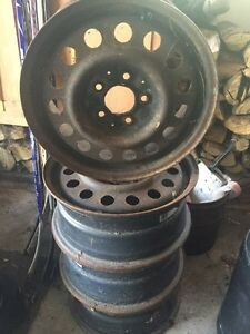 Four Steel Wheels - 16 in. Ideal for winter tires West Island Greater Montréal image 2