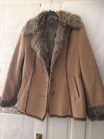Faux sheepskin jacket