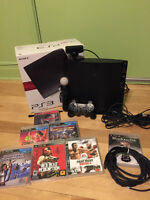 Playstation 3, 120gb with playstation move and 7 games