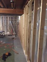 Basement framing 1.40/sqft